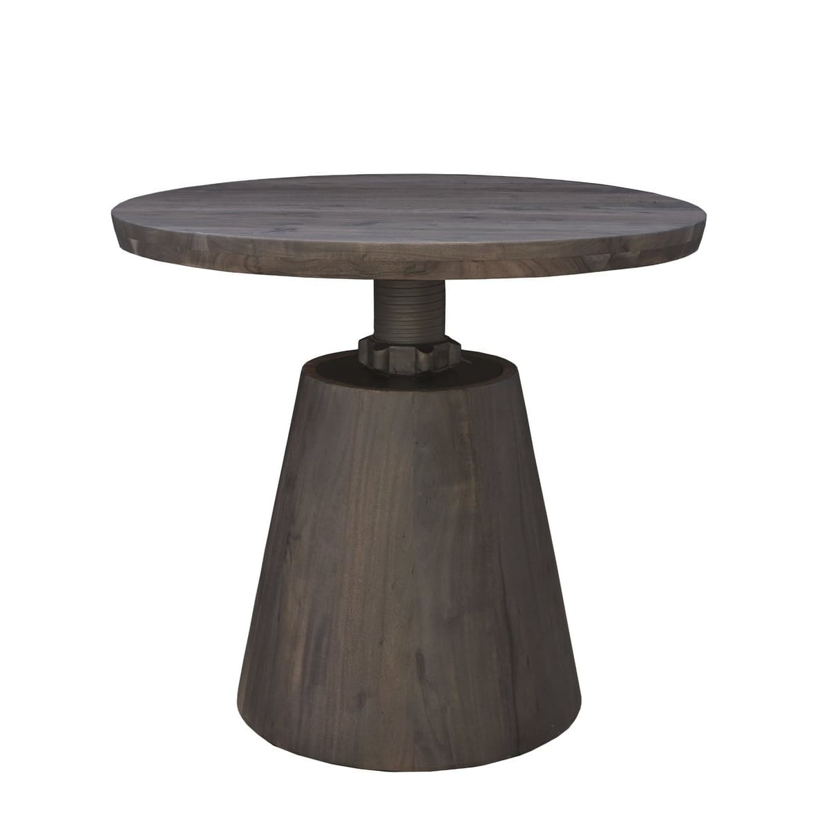 Averill Bistro Crank Table - Vinegar Matte BASE ONLY - accent tables