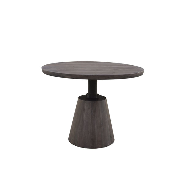 Averill Crank Dining Table - Vinegar Matte BASE ONLY - DININGCOUNTERHEIGHT