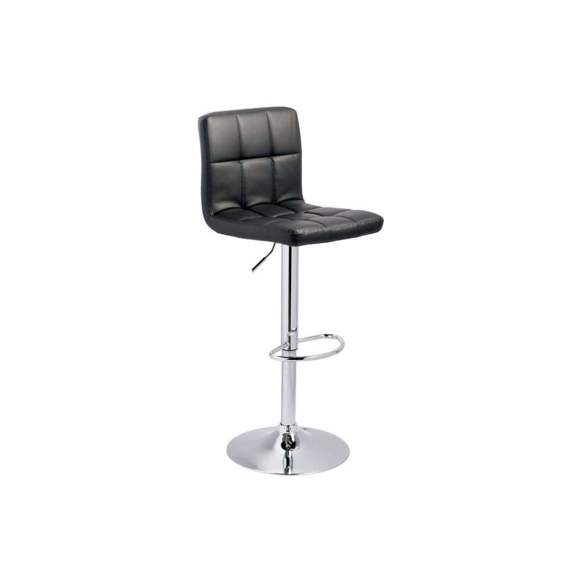 Bellatier Black Adjustable Height Bar Stool - BAR STOOL