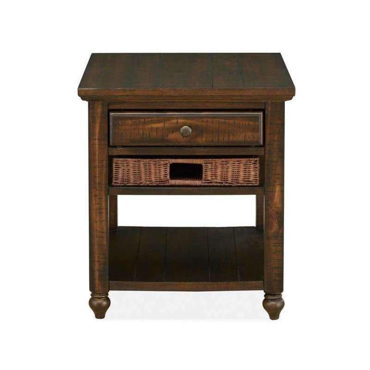 Cottage Lane Rectangular End Table - END TABLE/SIDE TABLE