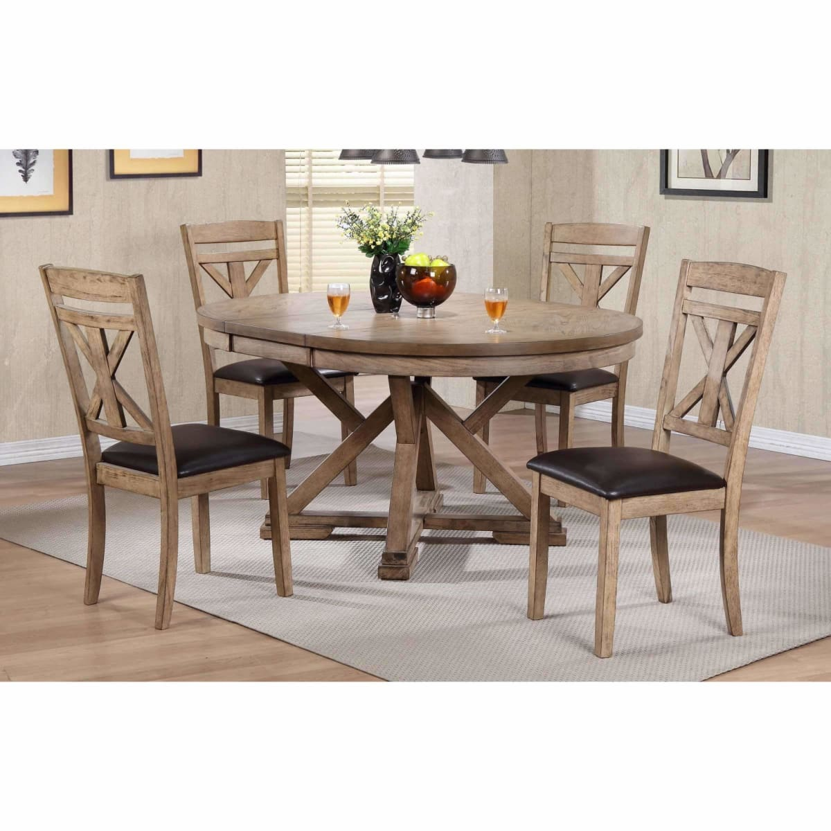 Grandview 66 Pedestal Table - DININGCOUNTERHEIGHT
