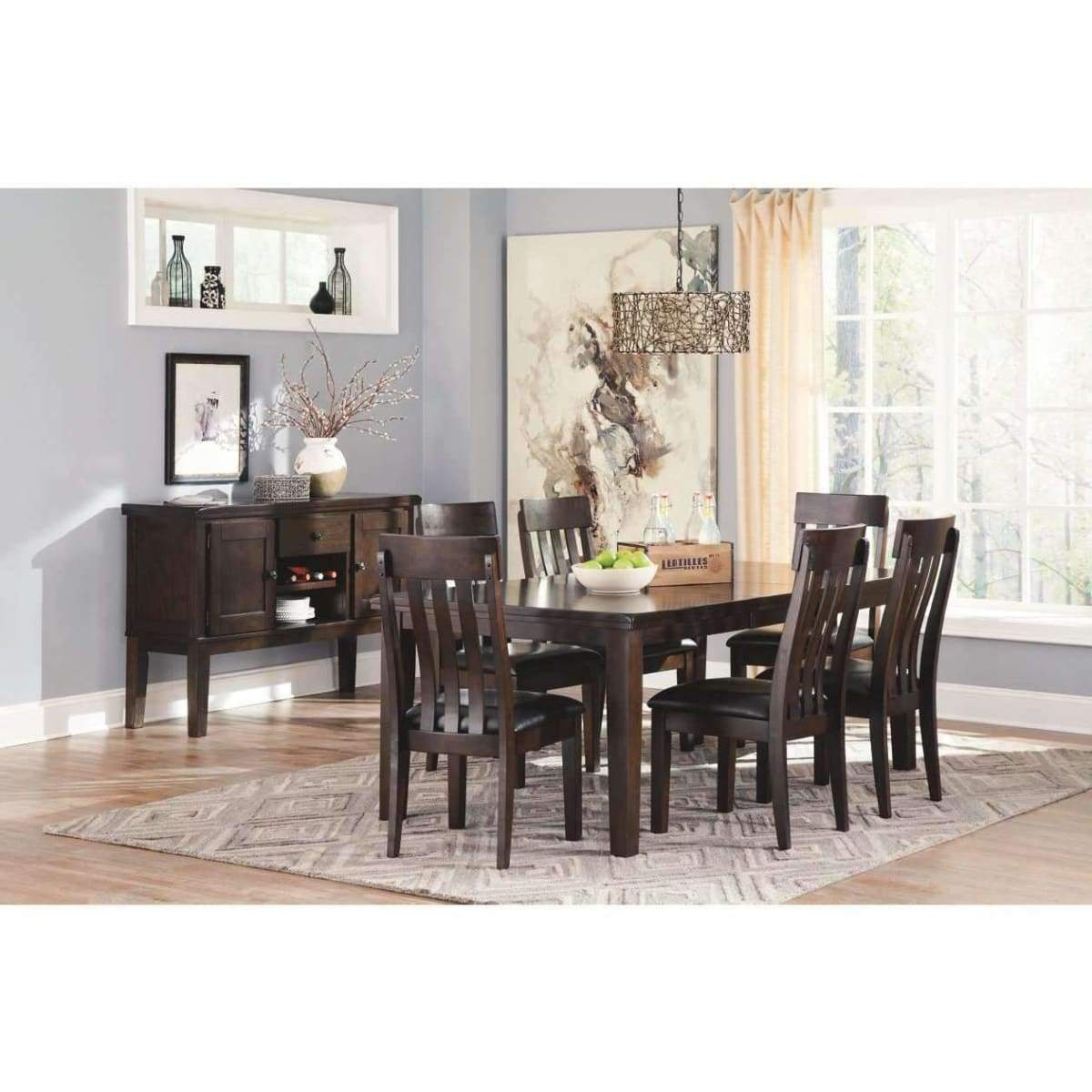 Haddigan 6pc Dining Room Set - DININGCOUNTERHEIGHT