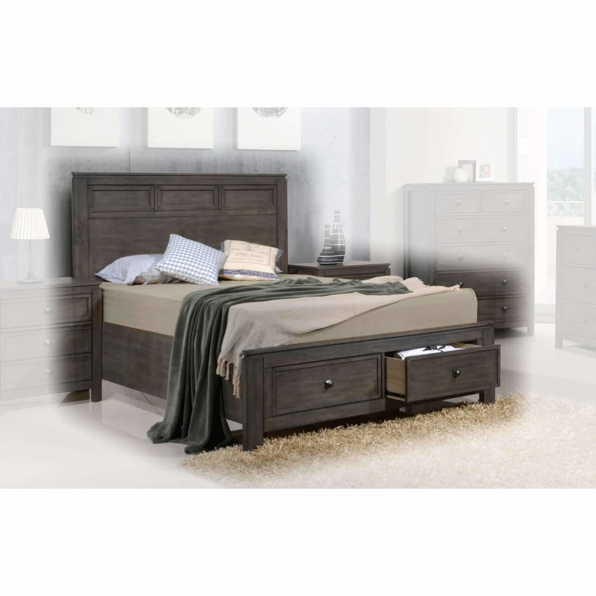 Lancaster Queen Storage Bed - BED