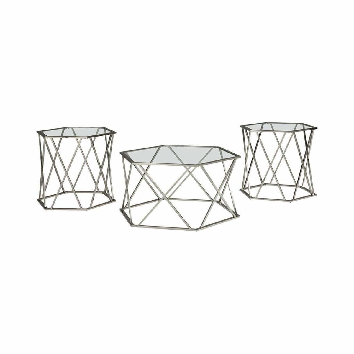 Madanere 3pc Coffee Table Set - COFFEE TABLE
