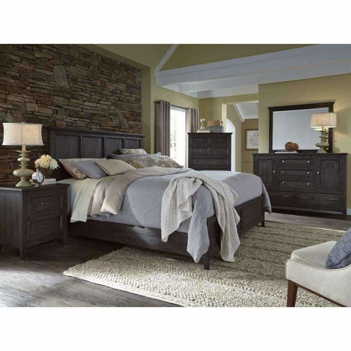 Mill River Queen Panel Bed - BED