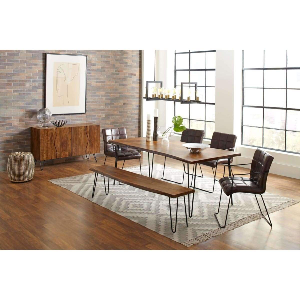 Natures Edge 79 Dining Table and Chair Set - DININGCOUNTERHEIGHT