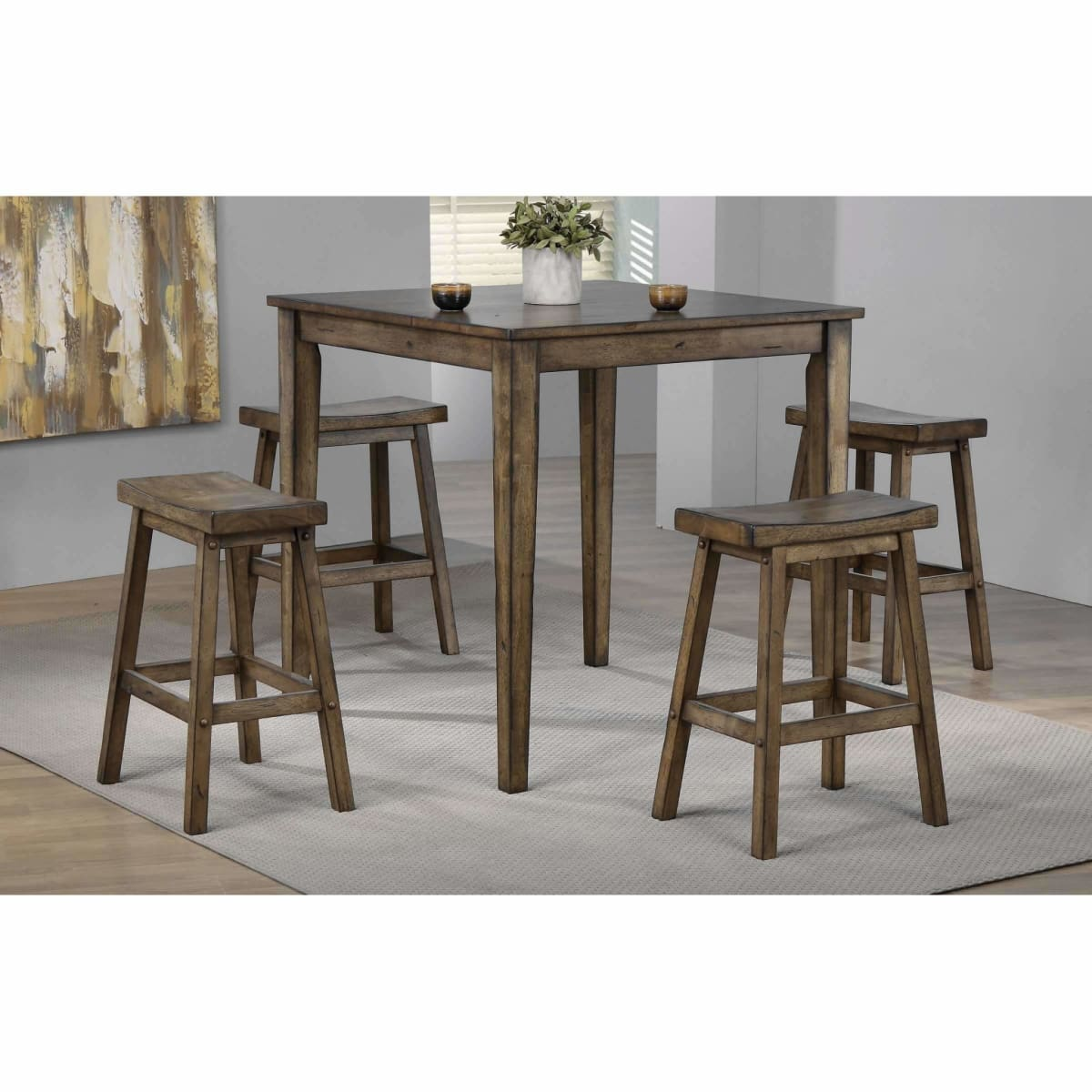 Newport 36 Square Tall Table - DININGCOUNTERHEIGHT