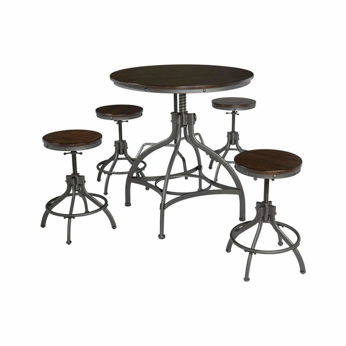Odium Counter Height Dining Room Table and Bar Stools (Set of 5) - DININGCOUNTERHEIGHT