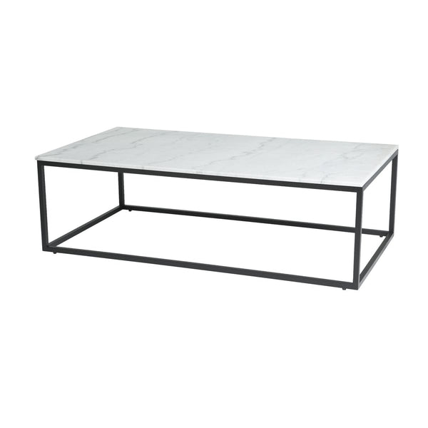 Payton Coffee Table - White Marble Top - COFFEE TABLE
