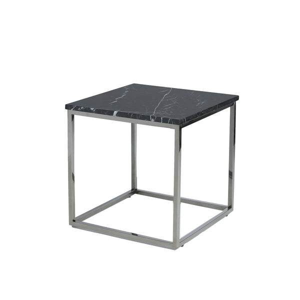 Payton Side Table - Black Marble Top - END TABLE/SIDE TABLE