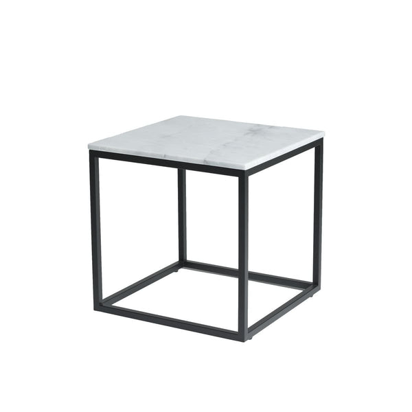 Payton Side Table - White Marble Top - END TABLE/SIDE TABLE