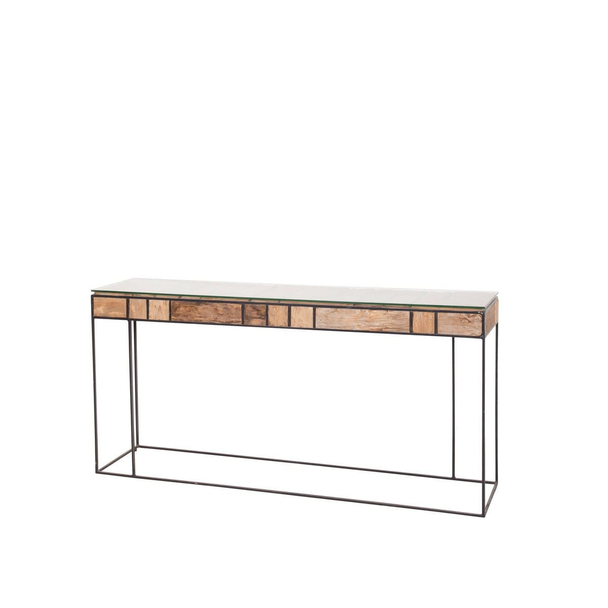 Royal Rubix Console Table w/ Glass - CONSOLE TABLE
