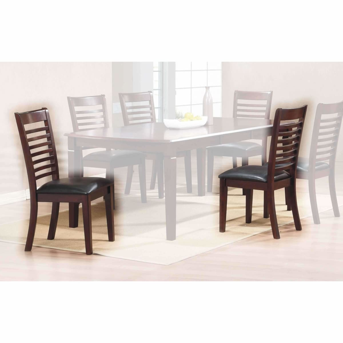 Santa Fe Pu Ladderback Side Chair - dining chairs