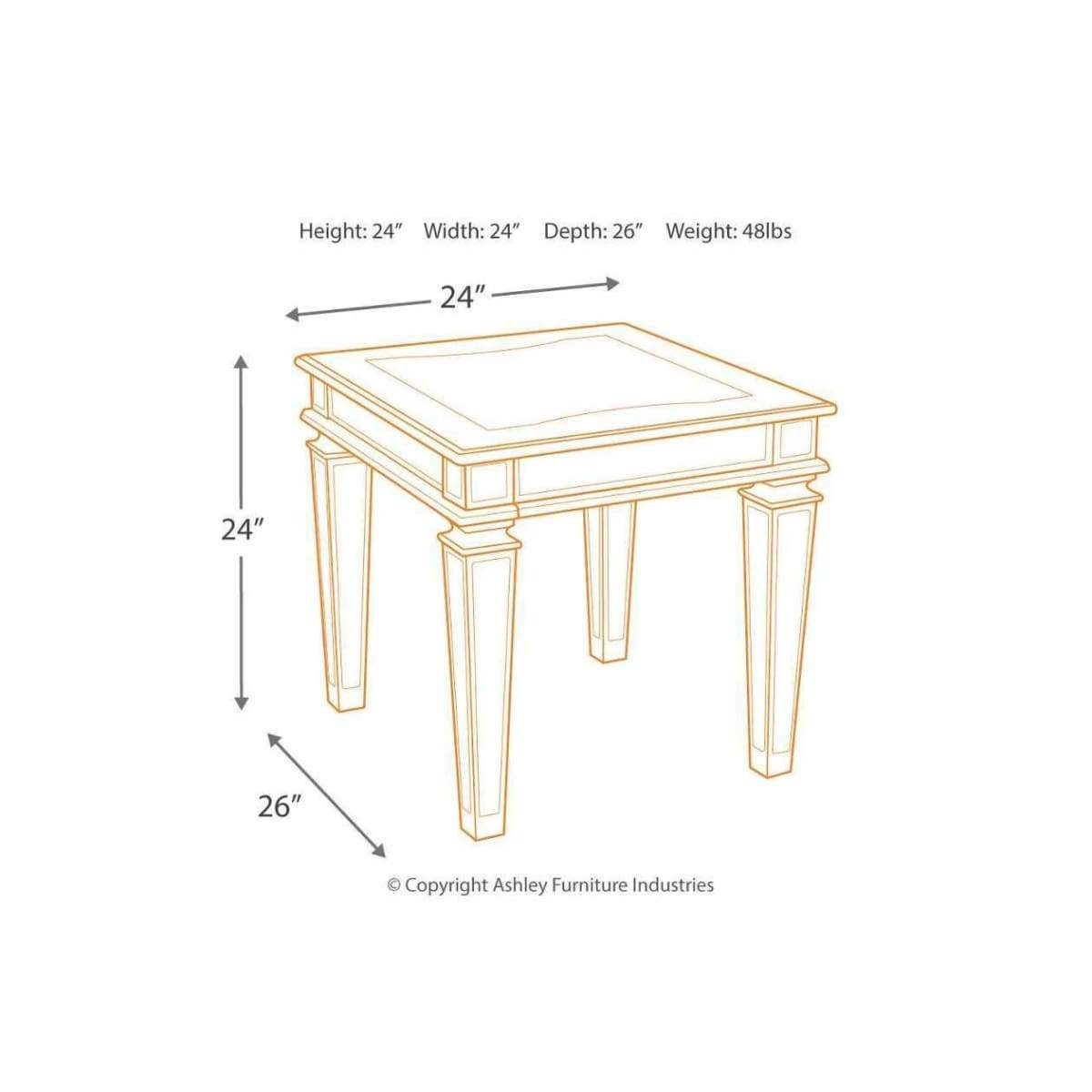 Tessani End Table - END TABLE/SIDE TABLE