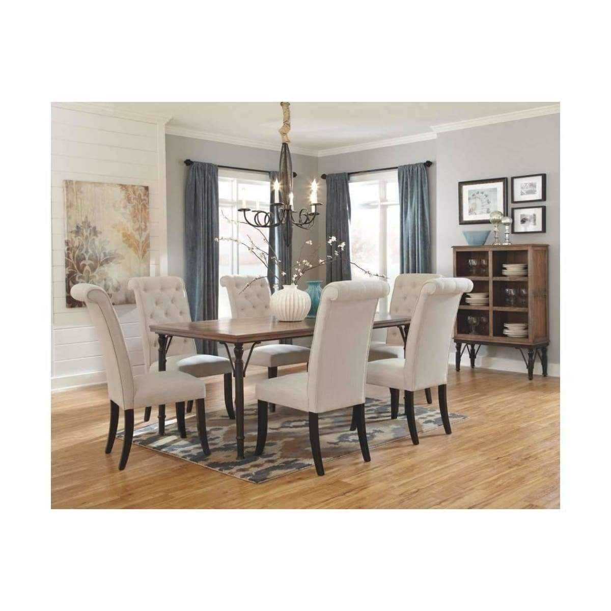 Tripton Dining Room Linen Chair - dining chairs