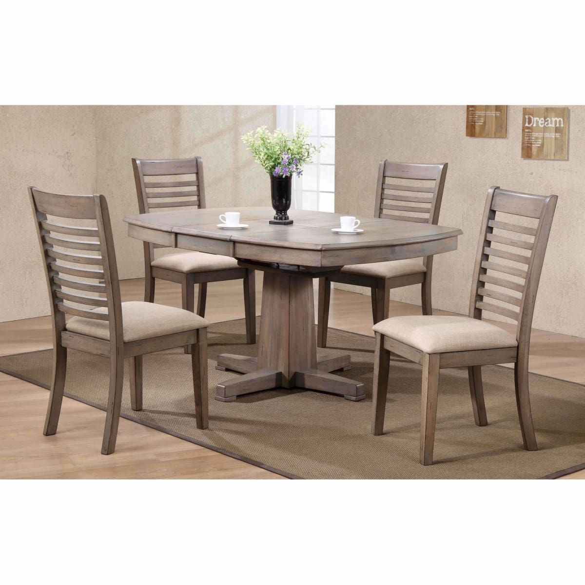 Ventura 42 X 57 Pedestal Table - DININGCOUNTERHEIGHT