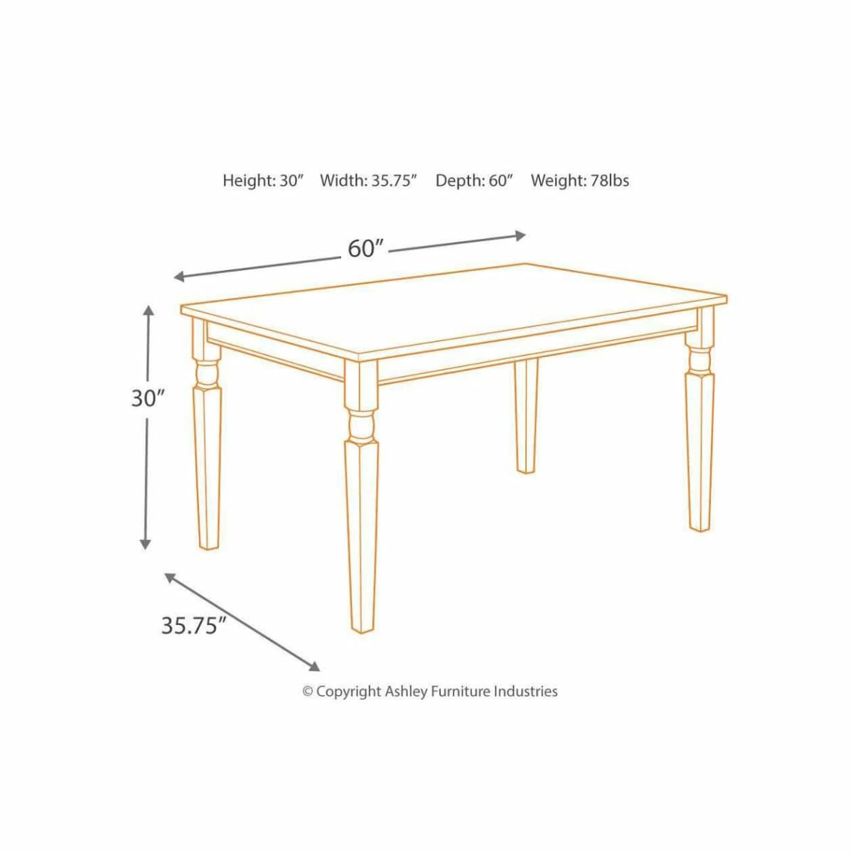 Whitesburg Dining Room Table Set - DININGCOUNTERHEIGHT