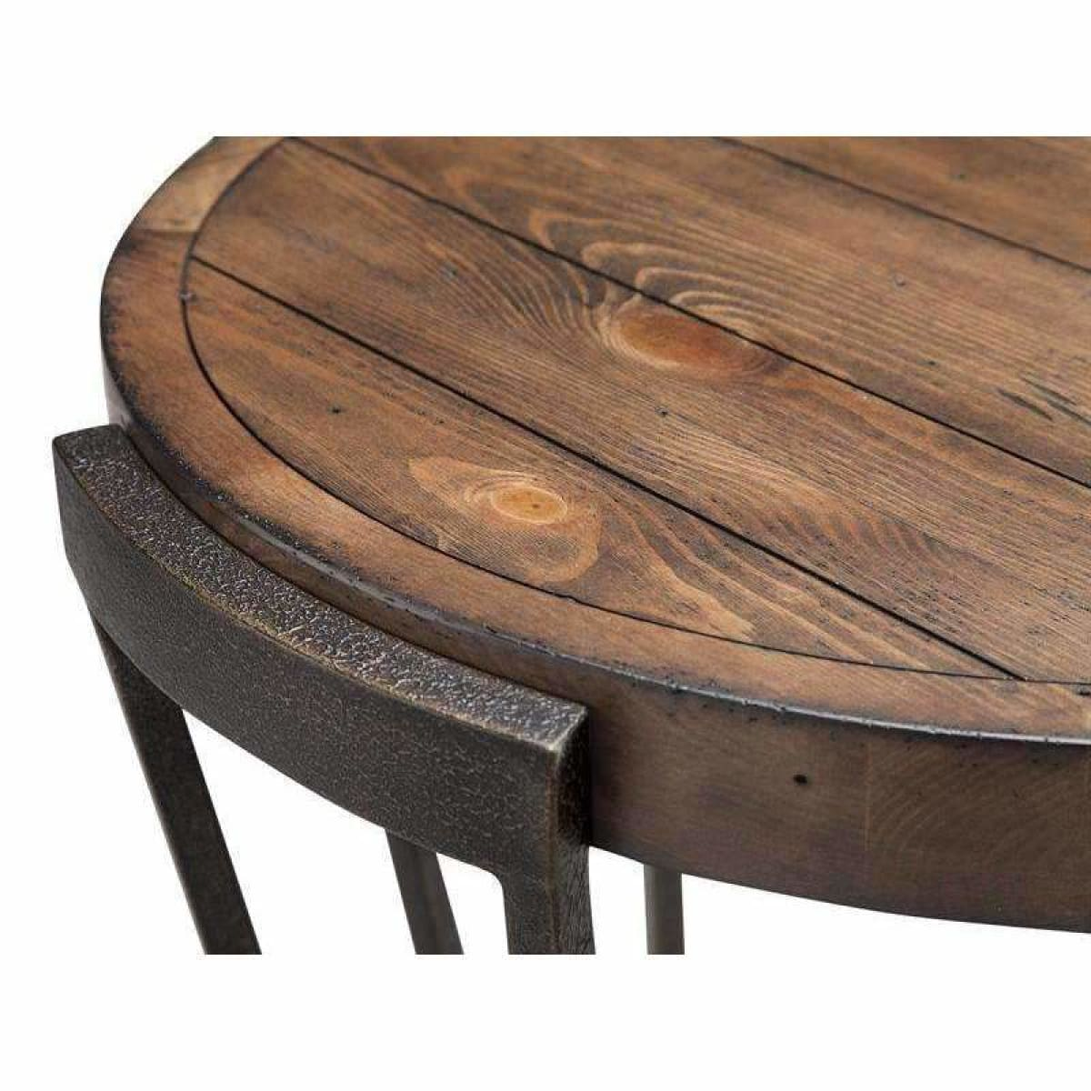 Yukon Round Cocktail Table (w/ Casters) - COFFEE TABLE