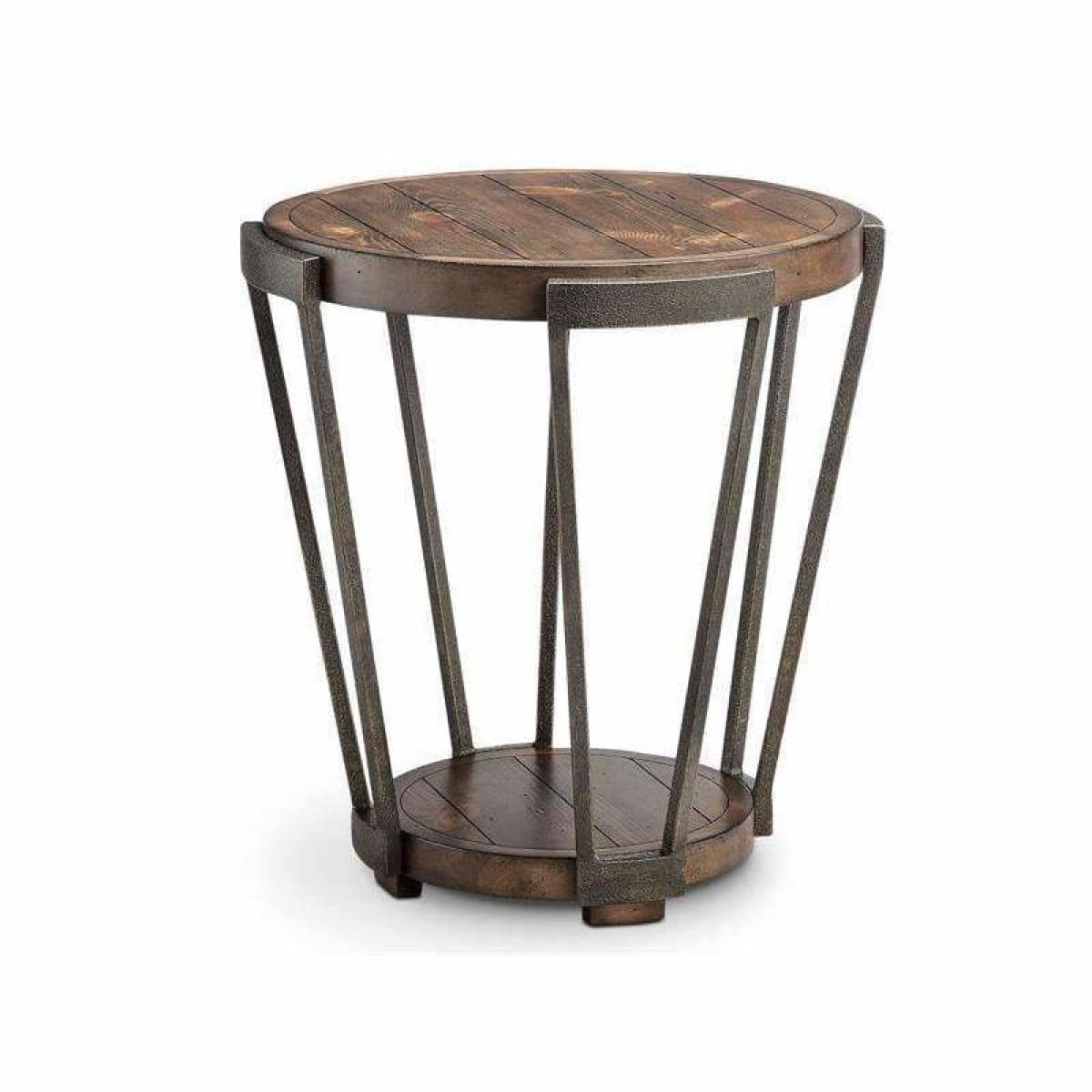 Yukon Round End Table - END TABLE/SIDE TABLE