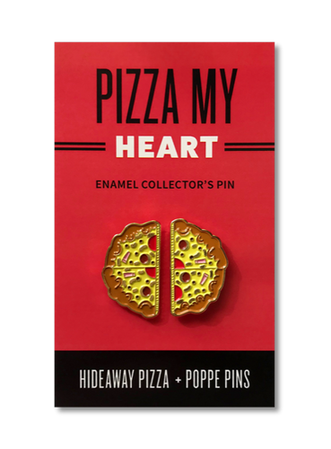 Pizza My Heart Enamel Collector Pin