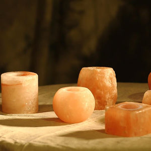 Himalayan Pink Salt Tea Light Holder