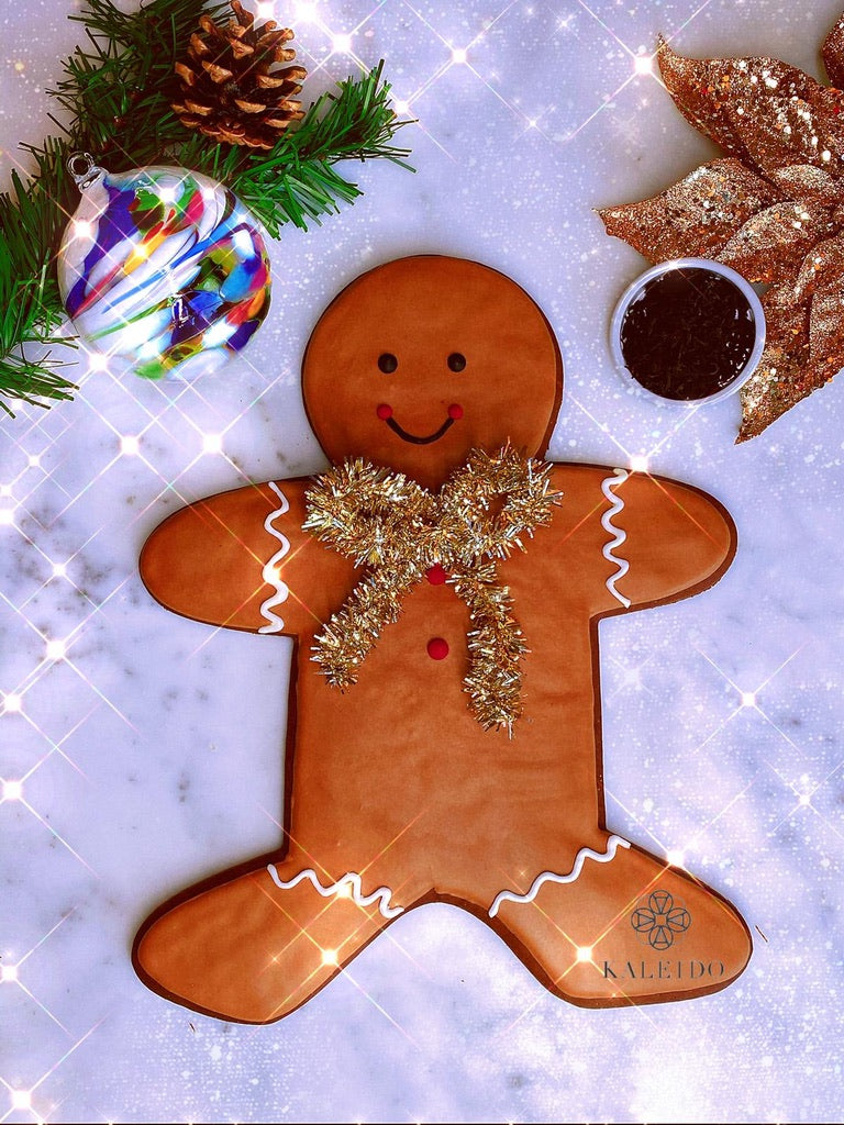 LARGE GINGY Deluxe Gift Box . Blown Glass Ornament; Tea