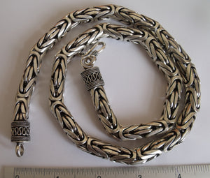 Byzantine Bali Necklace - 10mm wide