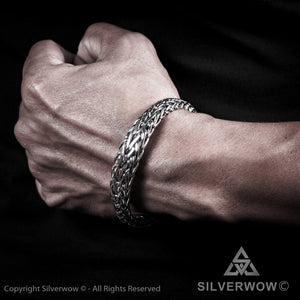 13mm Tapered Woven Bracelet