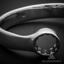13mm Silver Spanner Wrench Bangle Bracelet