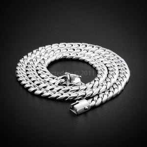 "10mm x 20"" Chain Link Necklace round flat"