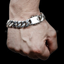 Curb Bracelet Mens 15mm Wrist Down 4 oz