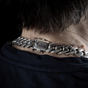 Chunky Curb Mens Necklace Chain 15mm 8oz