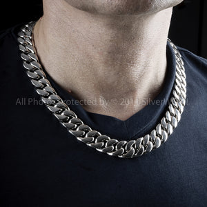 15mm Chunky Curb Link Necklace