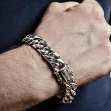 15mm Wide Cuban Link Bracelet