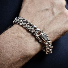 Silver Cuban Link Bracelet 15mm 7 oz +