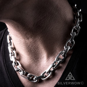 Chunky Chain Necklace 15mm neck