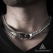 Woven Snake Mens Choker Chain 15mm wide