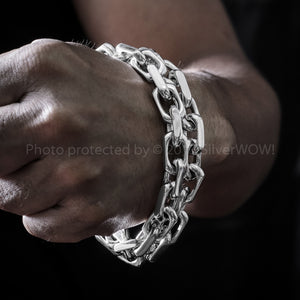 Chain Link Mens Necklace x 12mm Wide