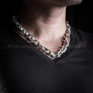 12mm mens heavy Chocker Chain necklace