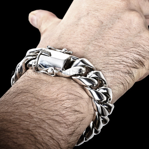 Cuban Link Bracelet Mens 20mm