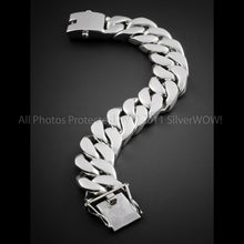 Flat link curb bracelet 25mm  10 oz