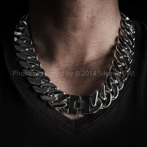 25mm Heavy Stainless Steel Curb Necklace