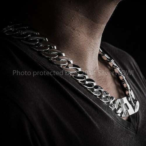 Mens Stainless Steel Necklace Chain Big Heavy 25mm