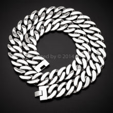 mens Stainless Steel Chain Necklace flat