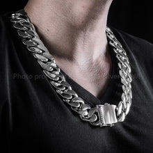 Thick Silver Chain Necklace Curb Link