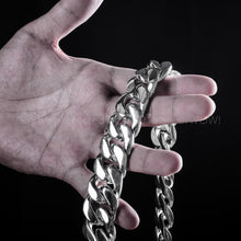 Big Heavy silver Curb link chain 25 oz +