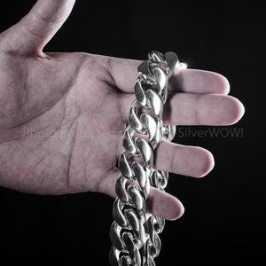 25mm Heavy Curb Link Necklace