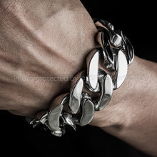 25mm Stainless Steel Curb Bracelet