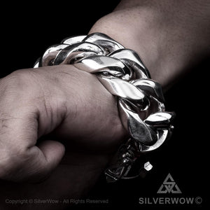 Cuban Link Bracelet x 30mm Wide Hand