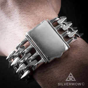 Mens Heavy SPIKE Bracelet